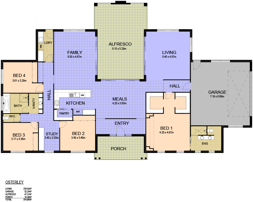 13 10 12 3374 osterly floor plan for Dual occupancy home designs corner block