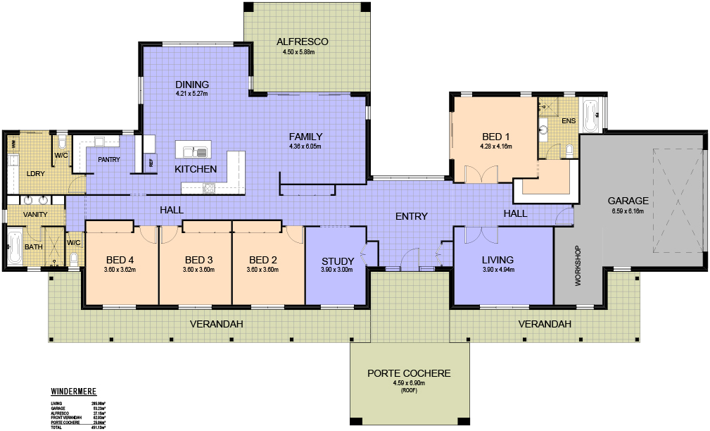 Valley homes acreage home design series for Acreage homes floor plans