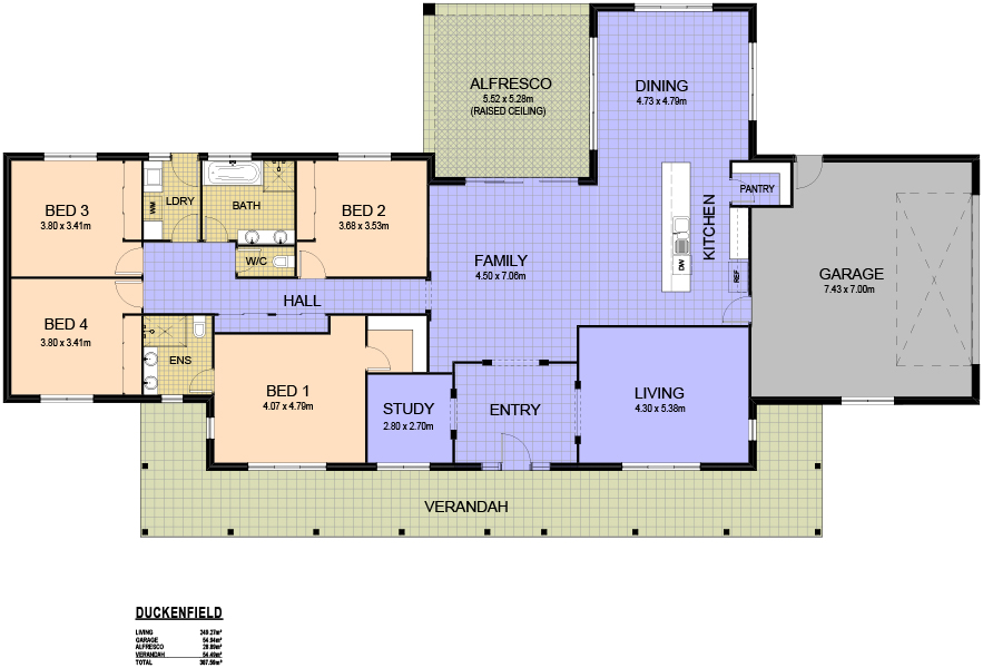 4 2 2 view floor plan download brochure - 4 Bedroom House Plans One Story For 2 Acres