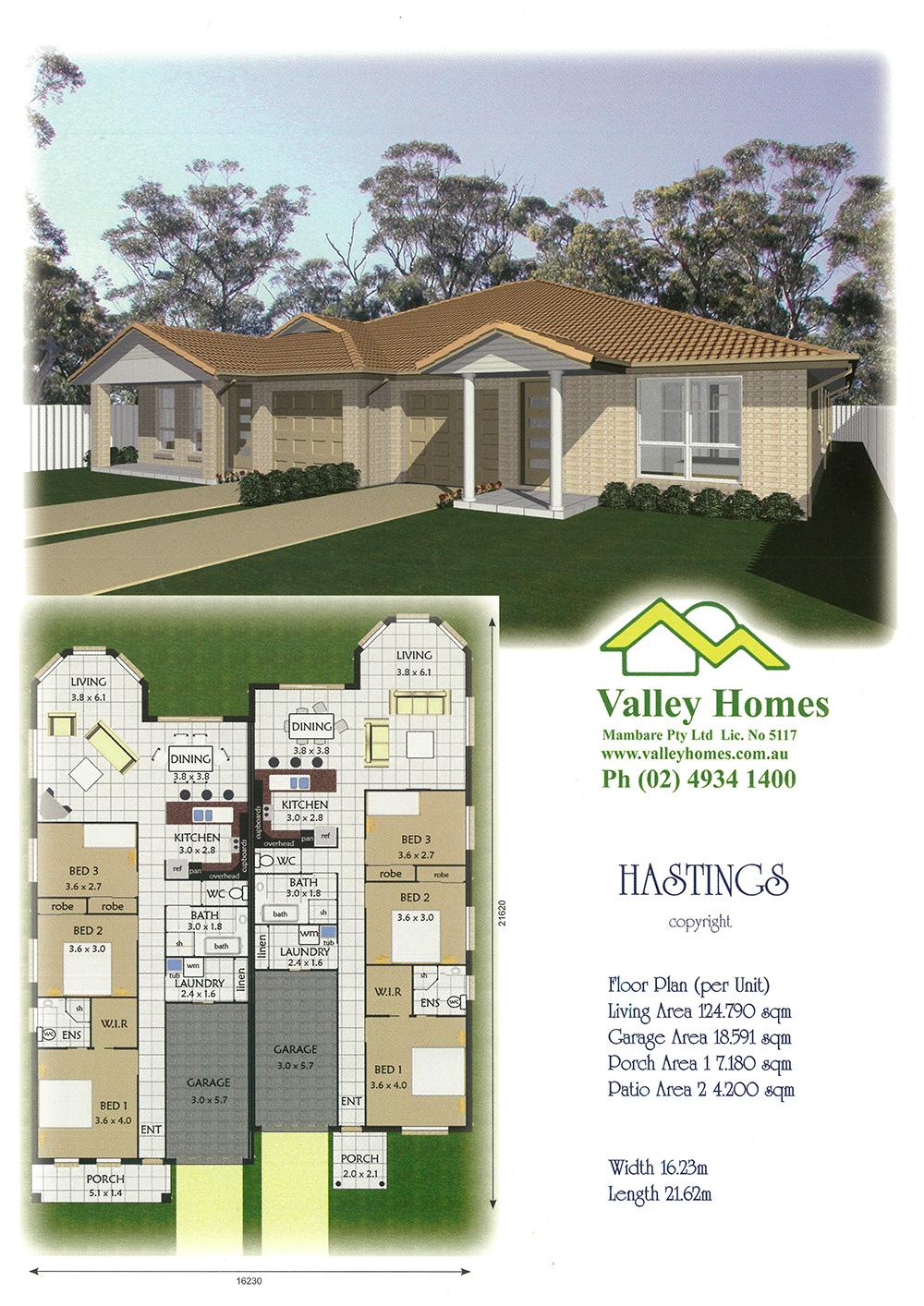 House plan design for duplex
