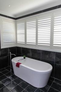 Custom home design bathroom tub slate tiles hunter valley