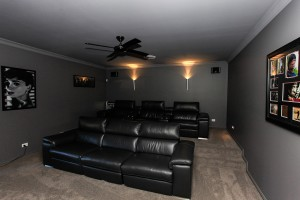 Home theatre builder custom home design Maitland