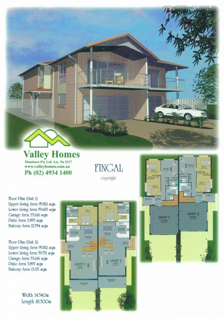 Valley Homes Port Stephens duplex investment home design